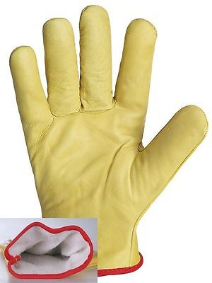Lined Leather Lorry Drivers Work Gloves Quality