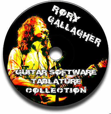 Rory Gallagher Blues Rock Guitar Tabs Tablature Song Book Software Cd Best Of