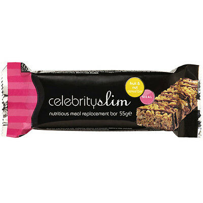 Celebrity Slim Meal Replacement Bars - Fruit & Nut x 12 (Full Box)