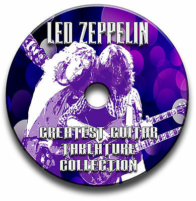 Led Zeppelin Rock Guitar Tabs Tablature Song Book Anthology Software Cd