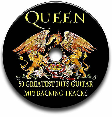 50 Queen Style Mp3 Rock Guitar Backing Jam Tracks Cd Anthology Library