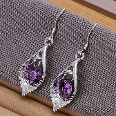 "wholesale Sterling solid silver fashion jewelry /""8/""/&ball drop Earrings SE071"
