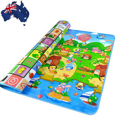 Baby Kid Child Play-mat Picnic Cushion Crawling Mat Playing 2x1.8m OCUSH2002