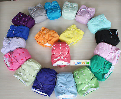 NEW ARRIVAL Baby Infant Reusable Cloth Diapers Pocket Nappy + Microfiber Inserts
