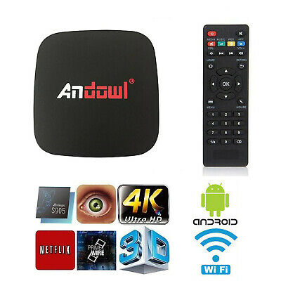 Android Tv Box Lite 4K Hd 7.1.2 Smart Tv Wifi Telecomando Andowl Q4 16Gb