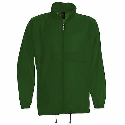 K-WAY rangeable VERT BOUTEILLE homme marque BC 100% nylon imperméable waterproof