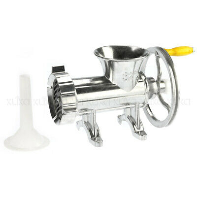 6mm ALLOY MEAT MINCER GRINDER SIZE-32 + SAUSAGE FILLER