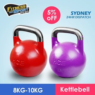 8kg & 10kg Pack Kettle bell Competition/Pro Grade Kettlebell Weight Strength Gym