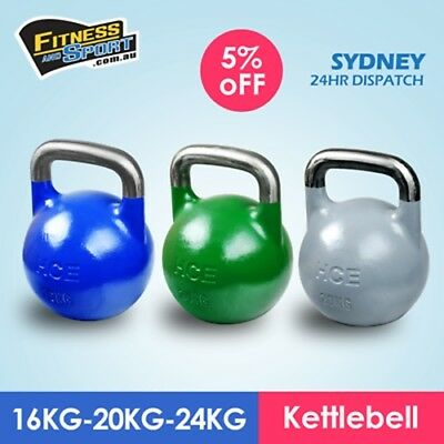 NEW Competition Kettlebell 16KG 20KG & 24KG Fitness Gym Strength Training Gear