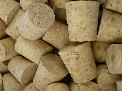 5 x Tapered Cork Bung Stopper Bottle size 6