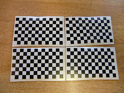 4x stickers 85mm x 50mm decals CHECKER FLAG