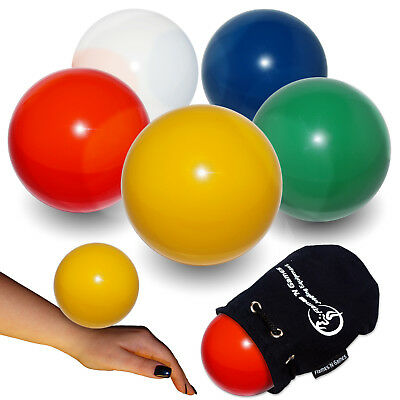 100mm Practice  Contact Juggling Ball + Fleeced Lined Travel Bag / Pouch