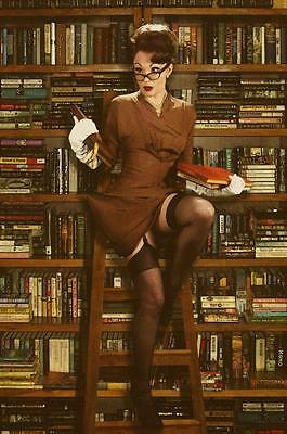 "Laura Shaffer, July Pin-up 21.5""x36"" 1940s 1950s tribute classic vintage poster"