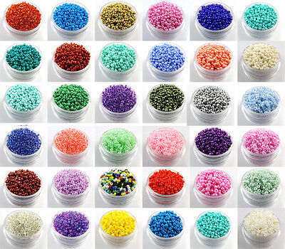 Czech  22g 2mm/3mm/4mm Round Lot Colorful Glass Seed Beads DIY Jewelry Making