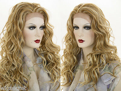 Long Lace Front Heat Friendly Wavy Blonde Brunette Red Wigs