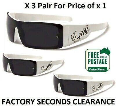 Locs Mens Wrap Around Sunglasses - White Frame - Stylish One Piece Lens