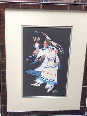 Very Rare George Smith Woogee Watchetaker Original Painting  / Comanche