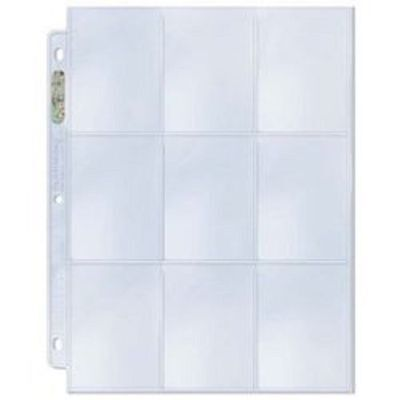 10 ULTRA PRO HOLO PLATINUM 9 POCKET PAGES SHEETS