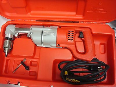 "Milwaukee New 3107-6 Electric 1/2"" Heavy Duty Right Angle Drill Kit 7 Amp & Case"