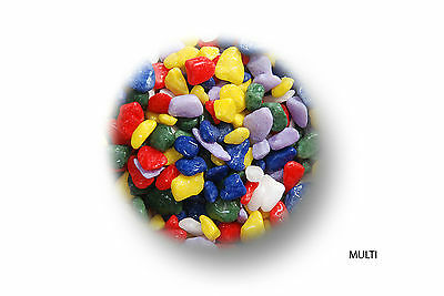 2 x 1kg Bags Coloured Aquarium Gravel Assorted Colours
