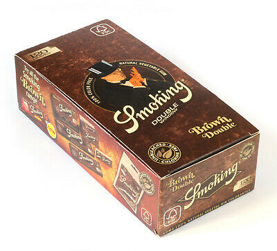 Smoking BROWN Double UNBLEACHED Rolling paper - 1 box = 3000 papers