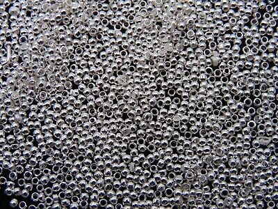 500 Pcs - 1.5mm Silver Plated Round Crimp Beads Jewellery Findings Craft A171