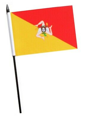 Italy Sicily Region Small Hand Waving Flag