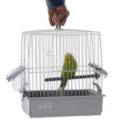 Riviera Nice Ice Small Bird Budgie Travel Transport Vet Holiday Cage Carrier New