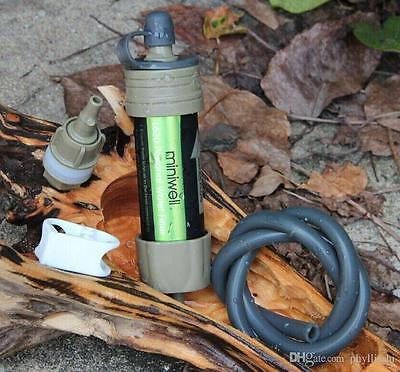 Survival Water Filter Straw Life Saving Purifier: 2000 Litres - Camping Hiking