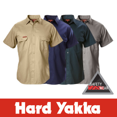 Hard Yakka Cotton Drill Shirt Short Sleeve Y07510 - All Colours