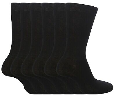 Multi Pack, Boys Girls cotton school socks, Black (12 pairs) All sizes