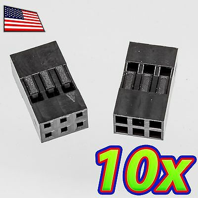 10x Dupont Jumper Wire Pin Housing Header Connector 1x10 Male-Female 10pcs Q21