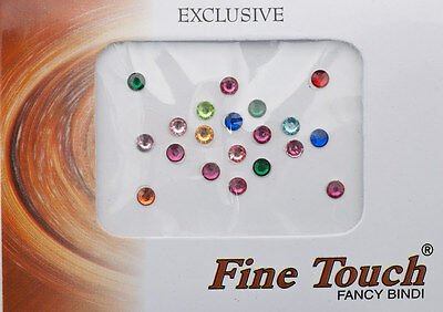 Bindi bijou de peau front bollywood faux piercing multicolore 4 mm INF D 1984