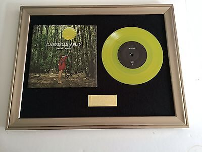 "Signed/Autographed Gabrielle Aplin -Panic Cord Framed 7"" Vinyl Presentation.rare"