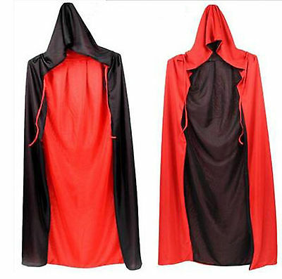 2Color Unisex Hooded Cloak Wicca Robe Medieval Witchcraft Cape Christmas Costume