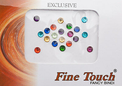 Bindi bijou de peau front bollywood Faux Piercing Multicolore  5 mm INF D 2472