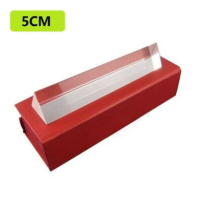 5cm Optical Glass Triple Triangular Prism Physics Refractor Light Spectrum