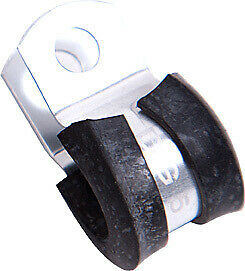 """AEROFLOW SILVER CUSHIONED P-CLAMPS 1"""" (25mm) I.D. 5 PACK AF158-16S"""