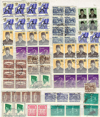 INDONESIA Asia Old STAMP Mint Used Collections INC BLOCKS Ref:D501
