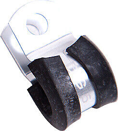 """AEROFLOW SILVER CUSHIONED P-CLAMPS 1-7/8"""" (47.6mm) I.D. 5 PACK AF158-30S"""
