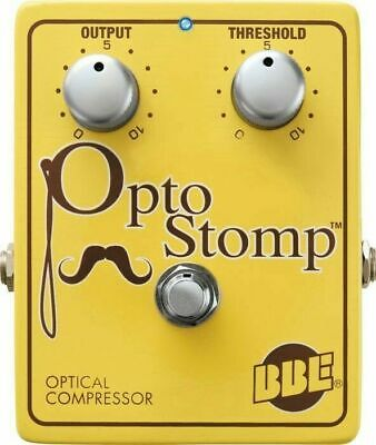 BBE Opto Stomp Pedal Optical Compressor for a Vintage '50s Sound Guitar Effects