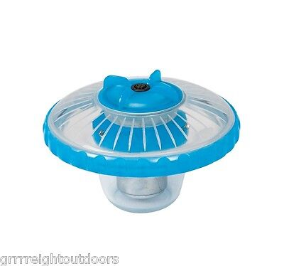 Intex Above Ground 3-Color LED Floating Swimming Pool Light Blue 28690E