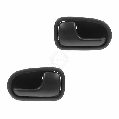 Interior Inside Gray Door Handle Pair Set Front for 95-03 Mazda Protege NEW