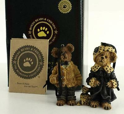 MIB 1995 Boyds Bears Bearstone Collection Ornaments BAILEY AND MATTHEW 9228RSN