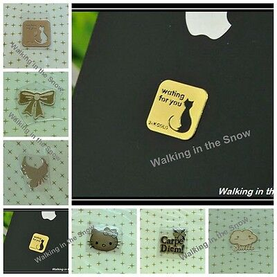 2pcs Cute Gold-Plating Anti Radiation for Cell phone PC Pad MP3 6 Styles