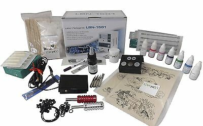 INKgrafiX® NEW SCHOOL - TATTOO - KOMPLETTSET Tatttoomaschine SET PROFI STUDIO XL