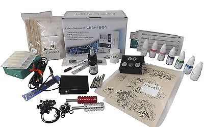 INKgrafiX® NEW SCHOOL - TATTOO - KOMPLETTSET Tatttoomaschine -SET PROFI - STUDIO