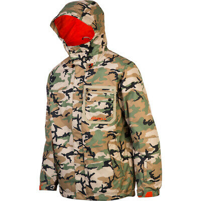 New Mens O'Neill Sector Insulated Snowboard Jacket Large Camo Green AOP