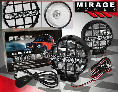 """FOR CHRYSLER 6"""" ROUND 4X4 OFF ROAD CLEAR LENS DRIVING HEAD FOG LIGHT + HID KIT"""