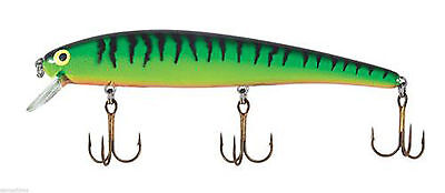 """BOMBER LURES LONG A 1/2 OZ. 4-1/2"""" BENGAL FIRE TIGER B15ABFT"""